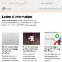 Newsletter geekeries.fr