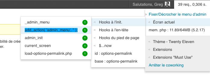 SF Admin bar tools - Administration